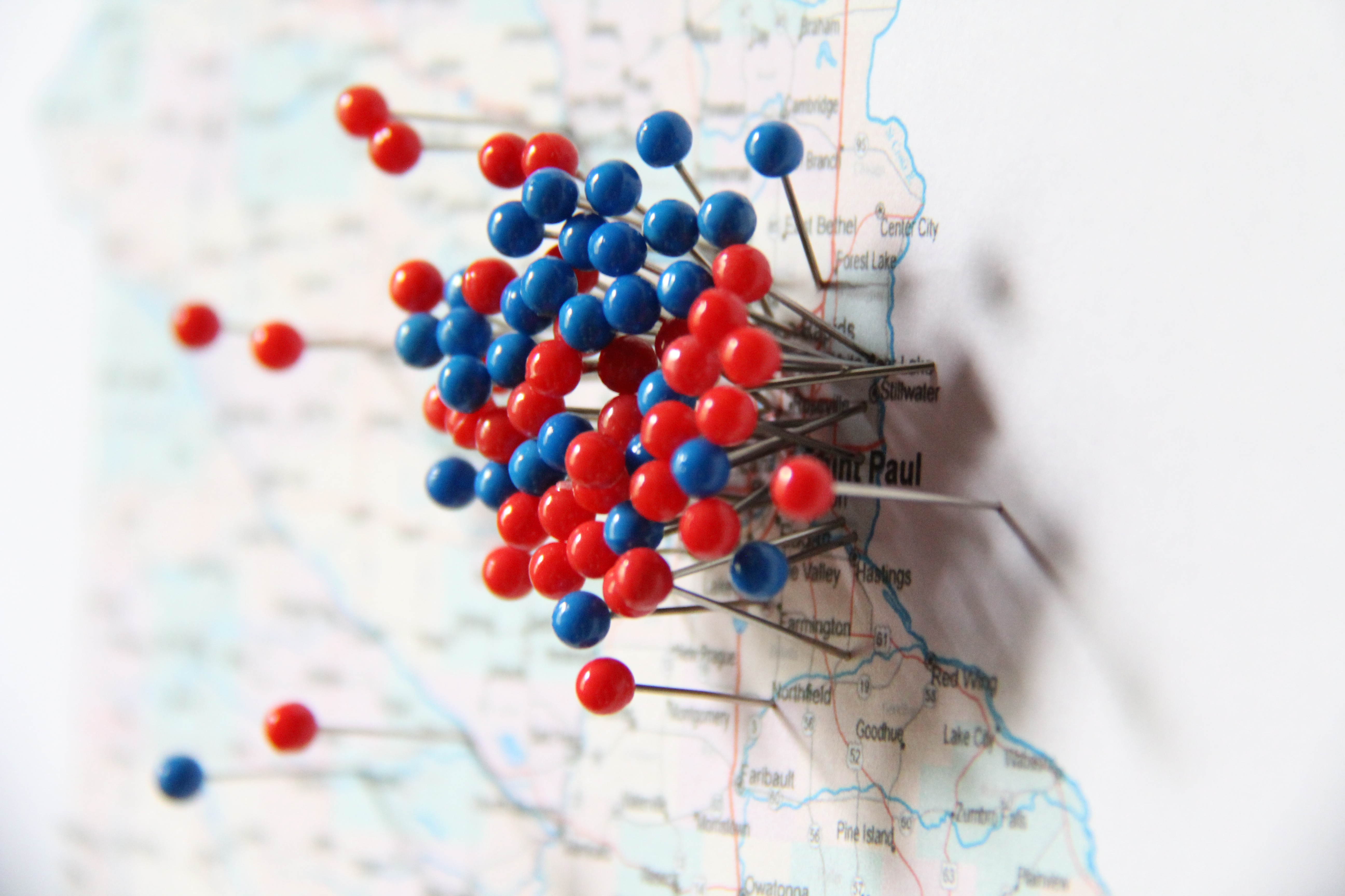 10 twin cities minnesota map red blue pins charlie mccarron