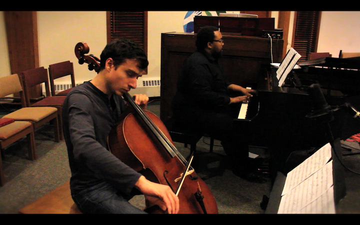 Charles and Franco Newton's Third Law Cello and Piano Duet