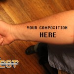 Composer Quest - Tattoo Composition Notes Staff